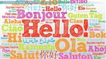 Hello in different languages icon