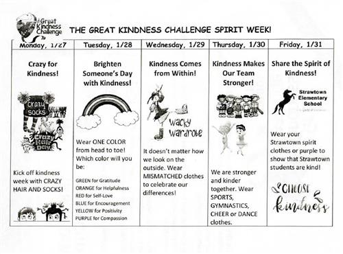 The Great Kindness Challenge Spirit Week!