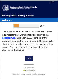 Strategic Goal Setting Survey