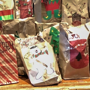 Decorated Holiday Gift Bags