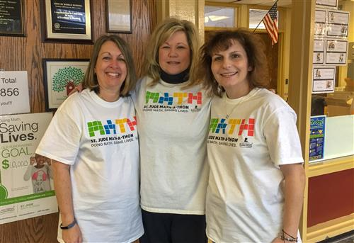 Teachers Wearing Matha-A-Thon Shirts