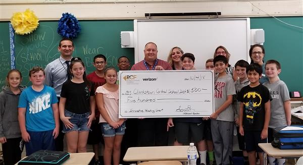 FFMS Students Posing with Grant Check