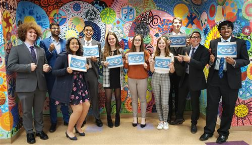 North HS Model UN Club Wins Awards at Recent Conference