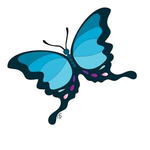 Flyers Email Logo - Blue Butterfly