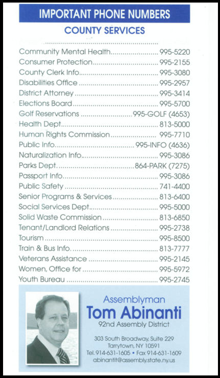 County Phone Numbers