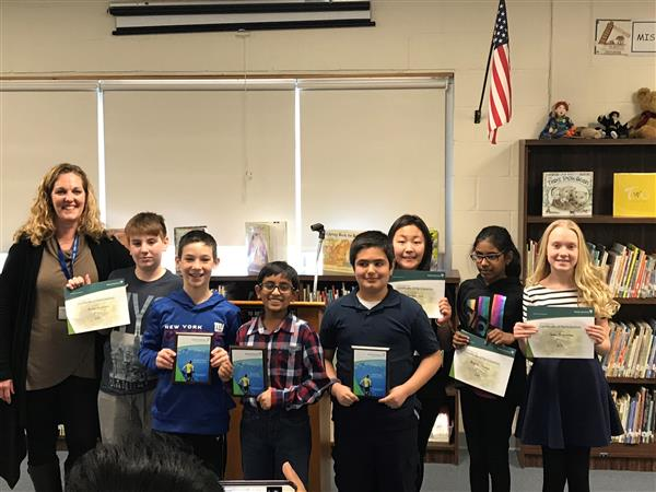 Link 5th Graders participate in the Modern Woodsman Speech Contest