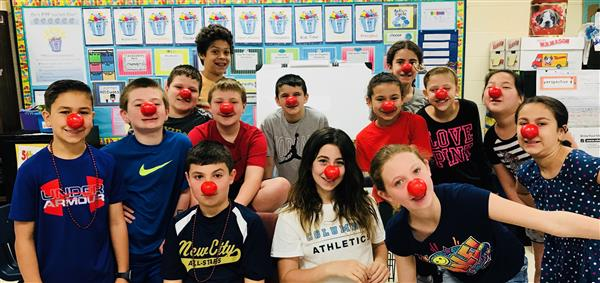 Link Students' Noses are Red and their hearts are too!
