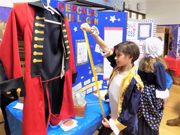 A Historical Display for Link at their 4th Grade Wax Museum